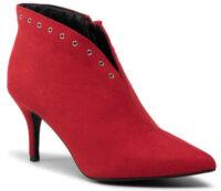 Elegáns boka női piros csizma olcsó