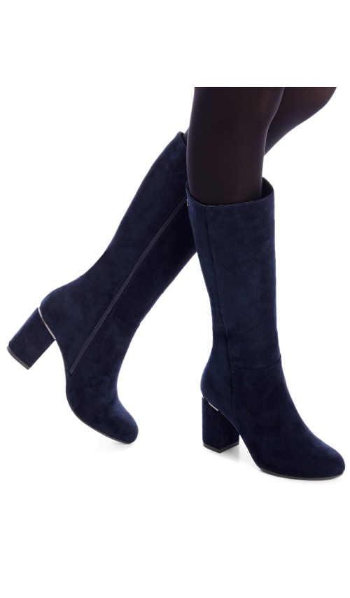 Kék női csizma modern kék színben