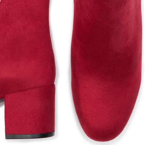Modern női alacsony piros csizma