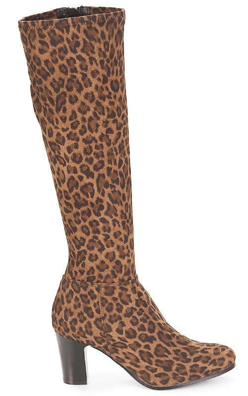 Divatos női leopárd csizma
