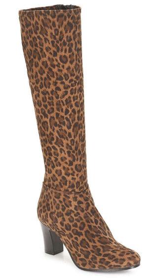 Női csizma André leopárd bőrminta
