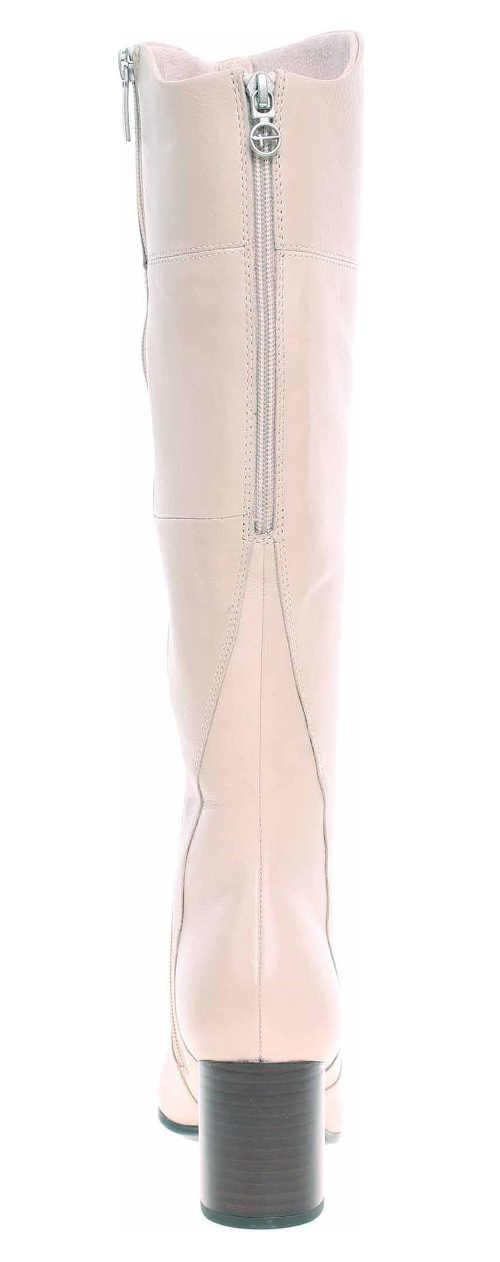 Világos rózsaszín női csizma magasabb sarokkal